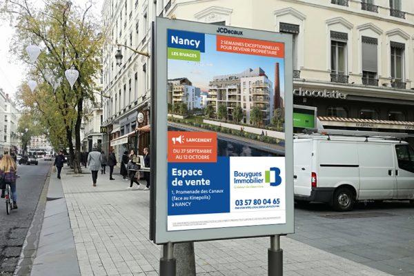 Affiche Bouygues Immobilier par Arnould conseil
