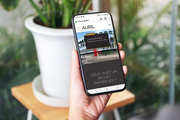 Site Internet Auril Smartphone