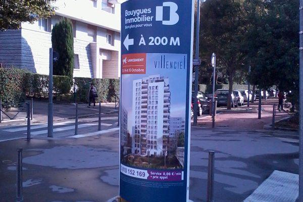 Mini totem Villenciel Bouygues Immobilier