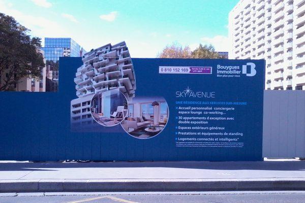 Palissade de chantier Bouygues Immobilier