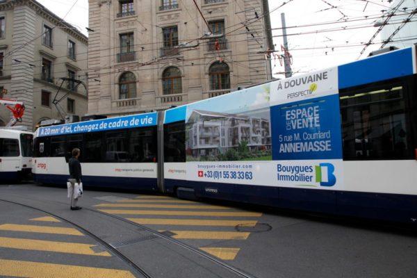 Covering de tramway pour le projet immobilier Perspectiv' à Douvaine
